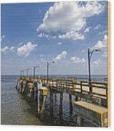 St. Simon's Island Georgia Pier Wood Print