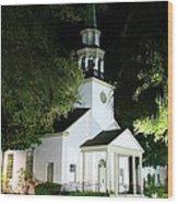 St Simons Island Presbyterian Church Wood Print