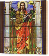 St. Stan's Stained Glass Wood Print