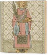 St Stephen Wood Print by English School