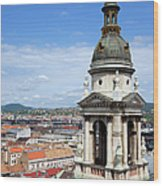 St Stephen's Basilica Bell Tower In Budapest Wood Print