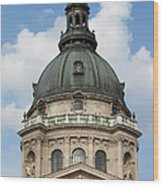 St. Stephen's Basilica Dome In Budapest Wood Print