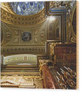 St. Stephens Ceiling 1 Wood Print
