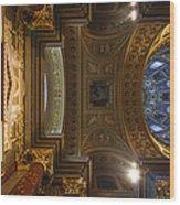 St. Stephens Ceiling 2 Wood Print