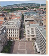 St Stephen's Square In Budapest Wood Print