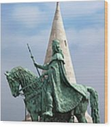 St Stephen's Statue In Budapest Wood Print
