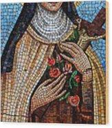 St. Theresa Mosaic Wood Print
