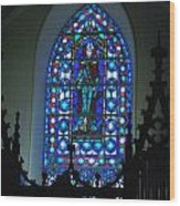St Thomas Stained Glass Wood Print