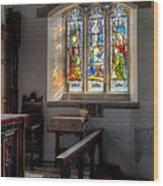 St Tysilio Window  Wood Print