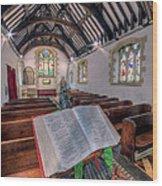 St Tysilios Bible Wood Print
