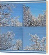 St. Valentine's Day Snowstorm Wood Print