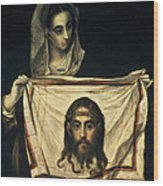 St Veronica With The Holy Shroud Wood Print