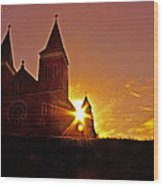 St Vincent Basilica At Sunset Wood Print