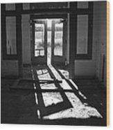 St X School Doorway Wood Print