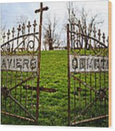 St. Xaviers Cemetery Wood Print