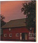 Stable Barn Wood Print