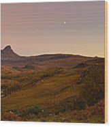Stac Polly Moonrise Wood Print