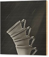 Stack Of Cups Wood Print