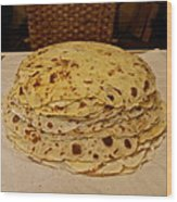 Stack Of Lefse Rounds Wood Print