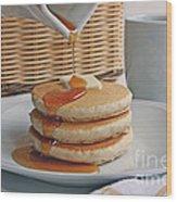 Stack Of Pancakes Wood Print