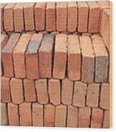 Stacked Adobe Bricks Wood Print