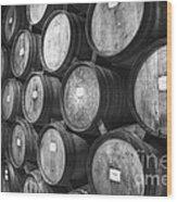 Stacked Barrels Wood Print