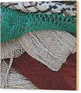 Stacked Nets And Ropes Wood Print