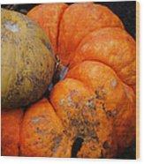 Stacked Pumpkins Wood Print