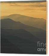 Stacked Ridges At Dawn - D008234 Wood Print