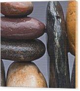 Stacked Stones 2 Wood Print