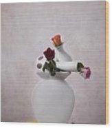 Stacked Vases Wood Print
