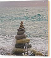 Stacking Stones Wood Print