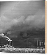 Stacks In The Clouds Wood Print
