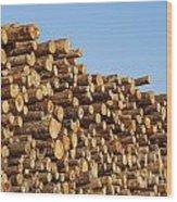 Stacks Of Logs Wood Print