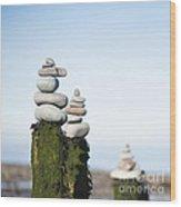 Stacks Squared Wood Print
