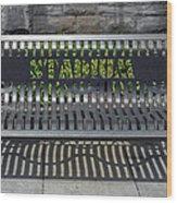 Stadium Bench Wood Print