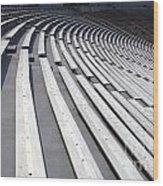 Stadium Bleachers Wood Print