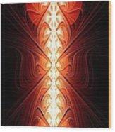 Staff Of Fire Wood Print
