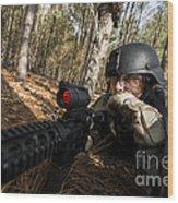 Staff Sergeant Hydrates Wood Print