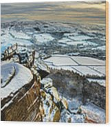 Staffordshire Winter Moorland Wood Print