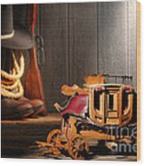 Stagecoach Dream Wood Print