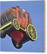 Stagecoach In The Sky Wood Print