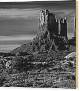 Stagecoach Rock Monument Valley Wood Print