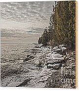 Staggering Shores Wood Print