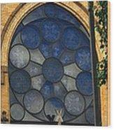 Stain Glass Church Window Wood Print