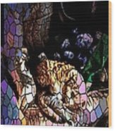 Stain Glass Motif Wood Print