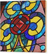 Stain Glass Wood Print by Thomas Fouch