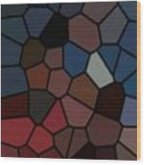 Stain Glass Wood Print
