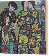Stain Glass Women Wood Print