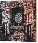 Stained Brick Wood Print